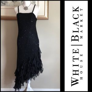🔥WHBM ASYMMETRIC BEADED DRESS